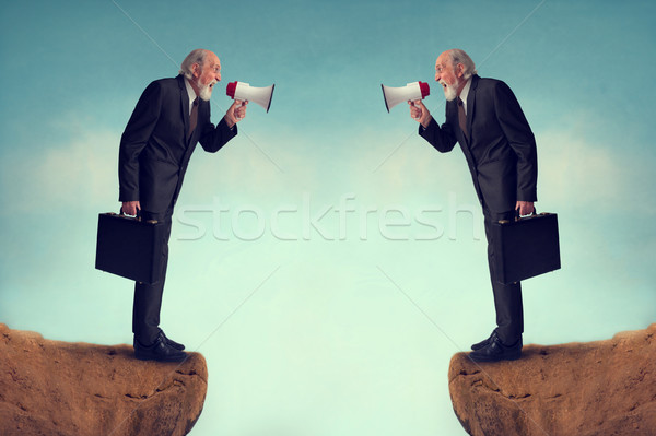 бизнеса конфликт бизнесменов костюм сердиться Сток-фото © leeavison