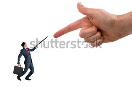бизнеса обвинение гигант пальца указывая стороны Сток-фото © leeavison