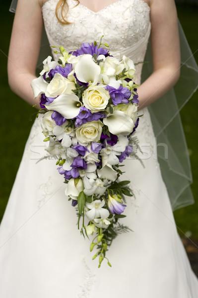 bride and wedding bouquet Stock photo © leeavison