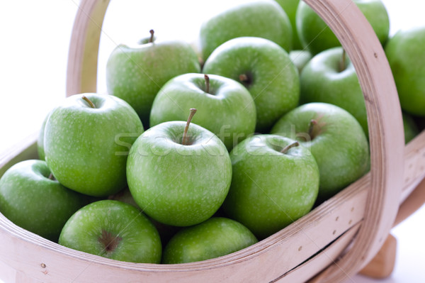 Zöld nagyi almák közelkép csoport friss Stock fotó © leeavison