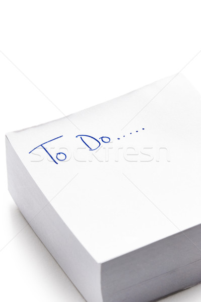 To do list geschreven post-it nota woorden inkt Stockfoto © leeavison