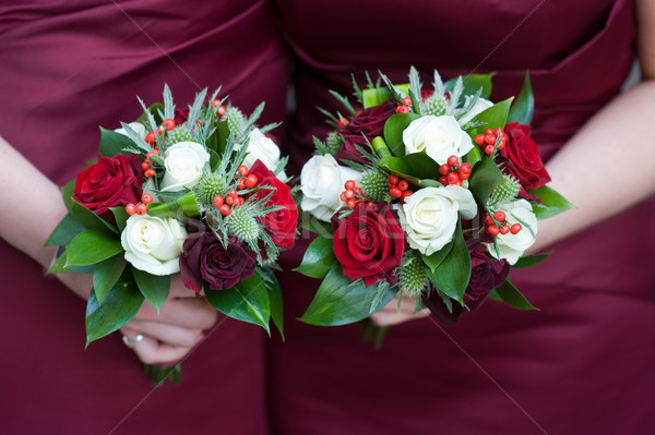 bridesmaids with flowers Stock photo © leeavison