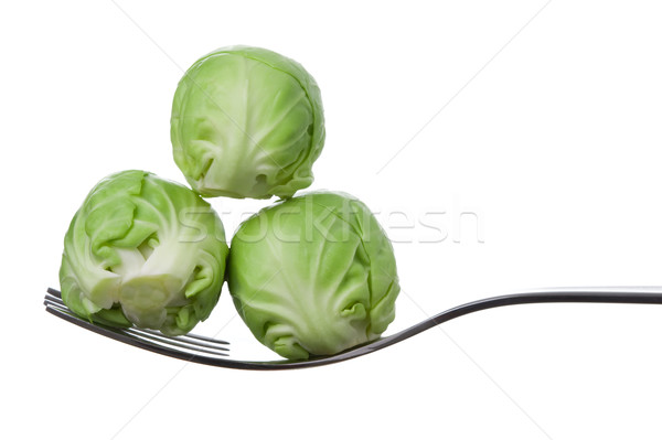 brussel sprouts on a fork Stock photo © leeavison