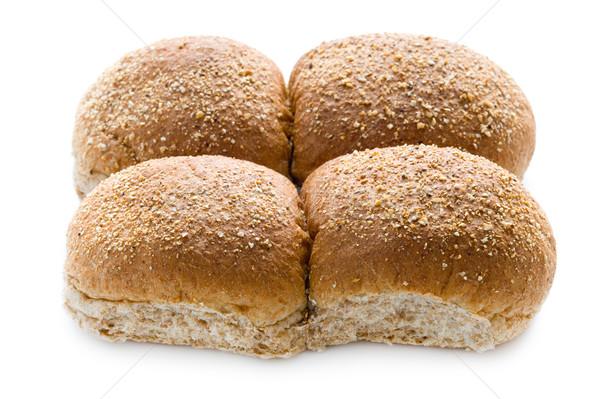 wholewheat bread rolls isolated on white Stock photo © leeavison