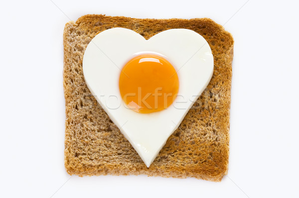 cooked egg on toast Stock photo © leeavison