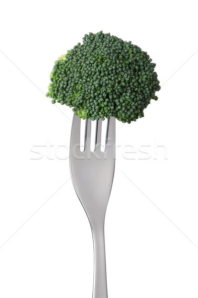 raw broccoli on a fork Stock photo © leeavison