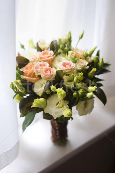 wedding bouquet by window Stock photo © leeavison