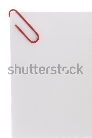 colorful paperclip on white paper Stock photo © leeavison