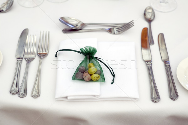 Easter table setting Stock photo © leeavison