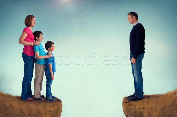 divorce concept family separation Stock photo © leeavison