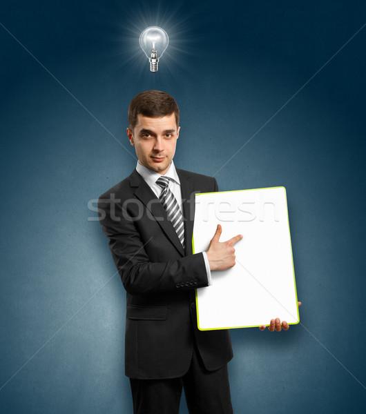 Сток-фото: Идея · бизнесмен · пусто · написать · совета
