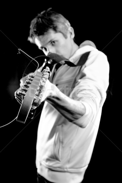 male with guitar Stock photo © leedsn