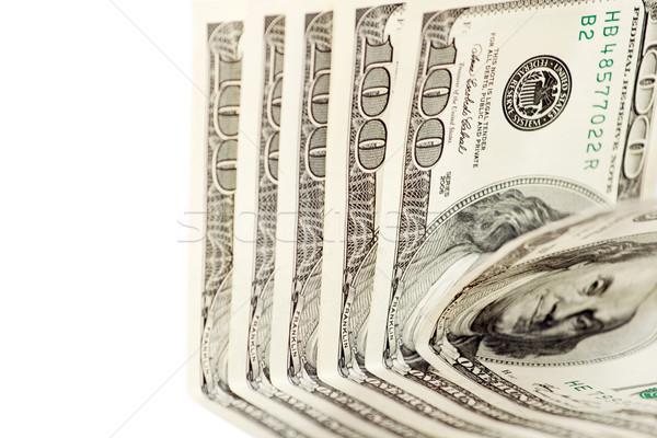 доллара аннотация белый один сто долларов Сток-фото © leedsn