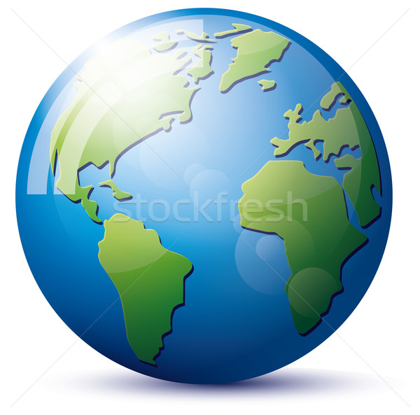 Icon Earth Globe Stock photo © leedsn