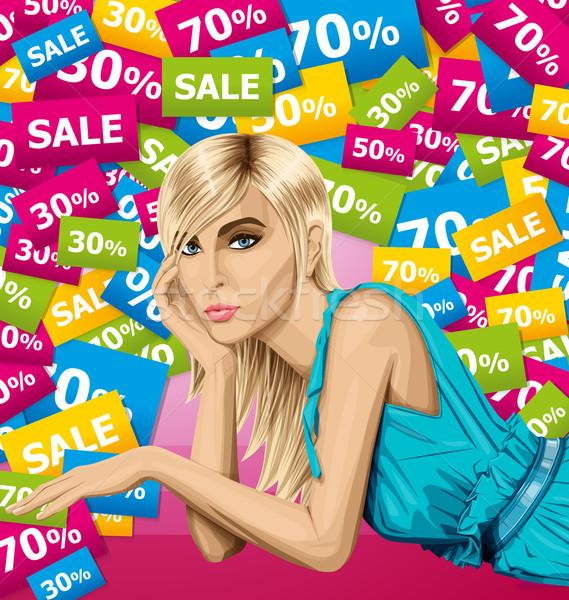 Rosa mentiras piso vector moda Foto stock © leedsn