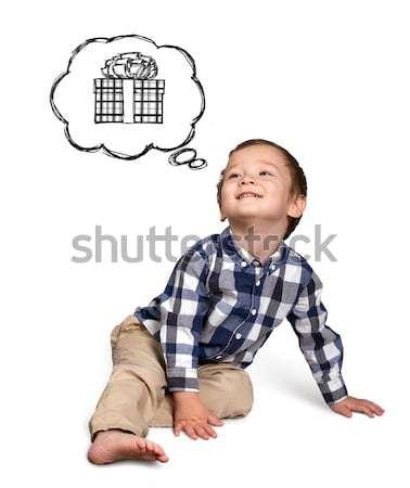 Baby Looking Up Stock photo © leedsn
