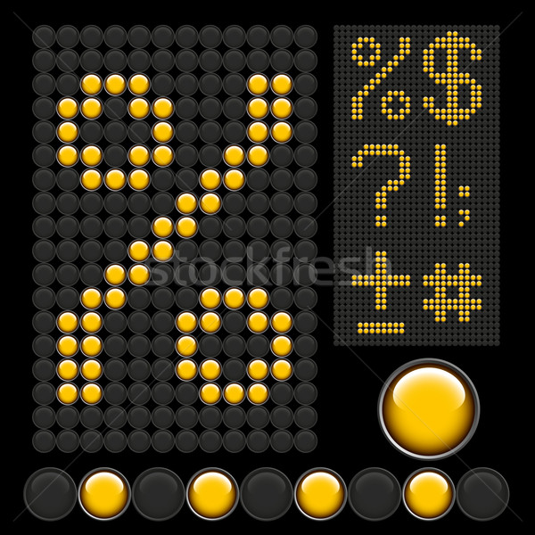 yellow button letters Stock photo © leedsn