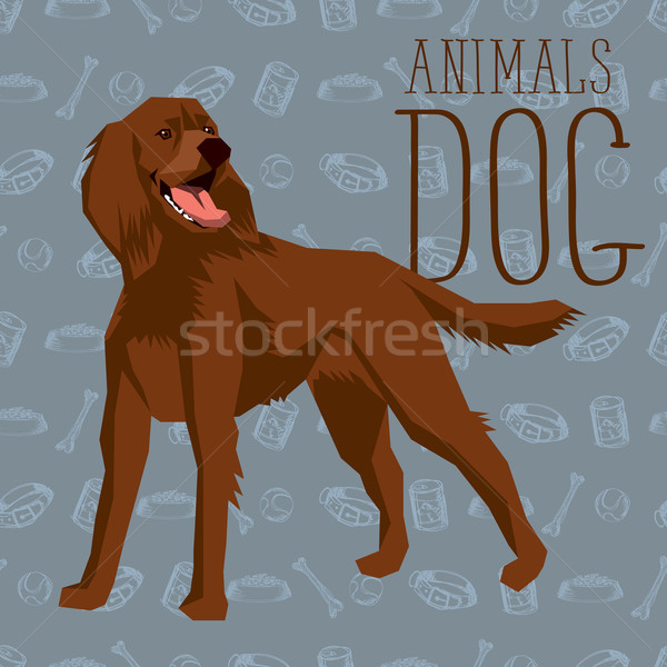 Vector Dogs Collection Stock photo © leedsn