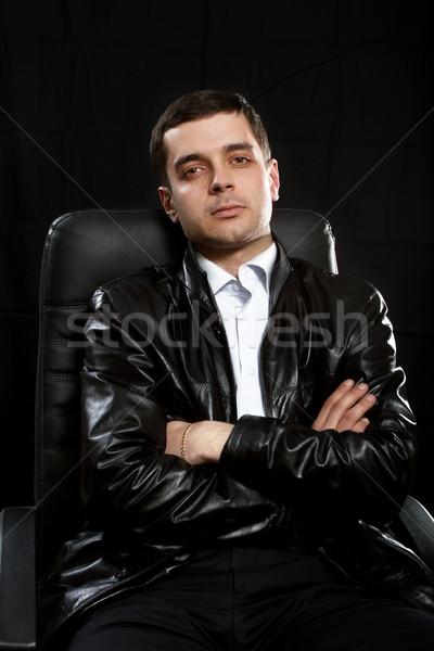мужчины кожа Председатель прав полиции Сток-фото © leedsn