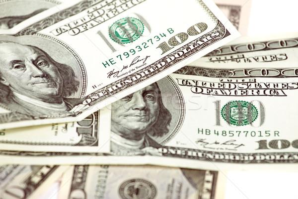 Abstract dollar witte een honderd business Stockfoto © leedsn