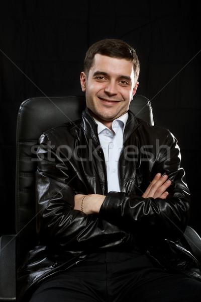 Gangster мужчины кожа Председатель прав Сток-фото © leedsn