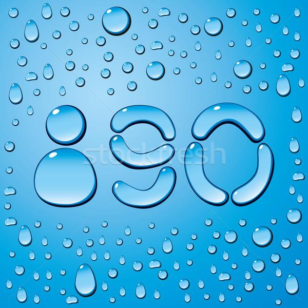水滴 文字 ベクトル セット 青 テクスチャ ストックフォト © leedsn