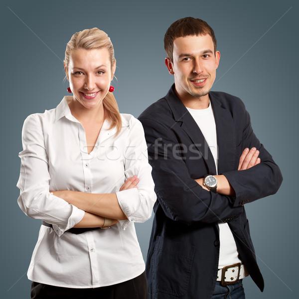 ビジネスマン 女性実業家 男 女性 ビジネスの方々  折られた ストックフォト © leedsn