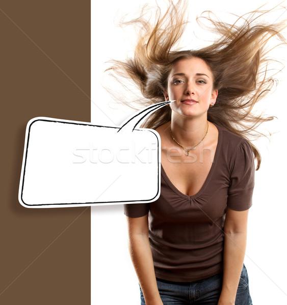 Woman Looking on Camera Stock photo © leedsn