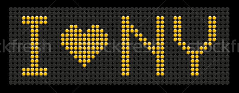 yellow button board words i love NY Stock photo © leedsn