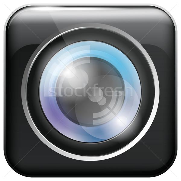 Camera Lens Icon Stock photo © leedsn