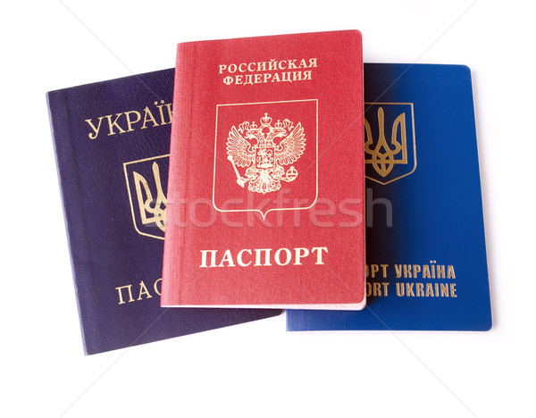 Orosz személyi igazolvány izolált fehér konfliktus kettő Stock fotó © leedsn