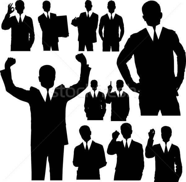 Homem de negócios silhuetas vetor pessoas de negócios diferente negócio Foto stock © leedsn