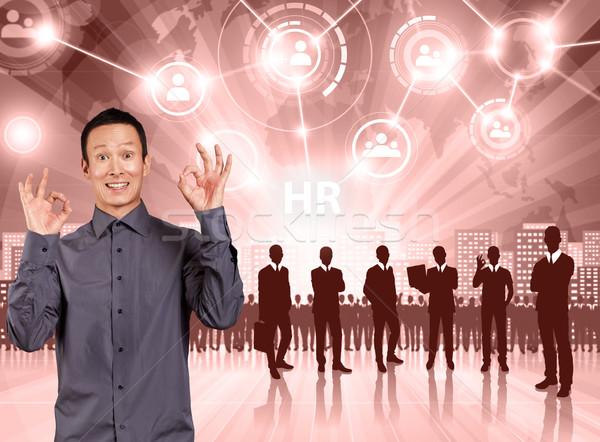 Człowiek biznesu pracodawca pracownika działalności człowiek Zdjęcia stock © leedsn