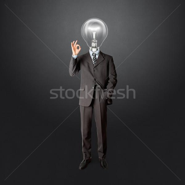 Działalności mężczyzna garnitur szczęśliwy pracy Zdjęcia stock © leedsn