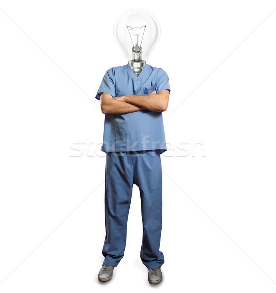врач мужчины сложенный рук человека пер Сток-фото © leedsn