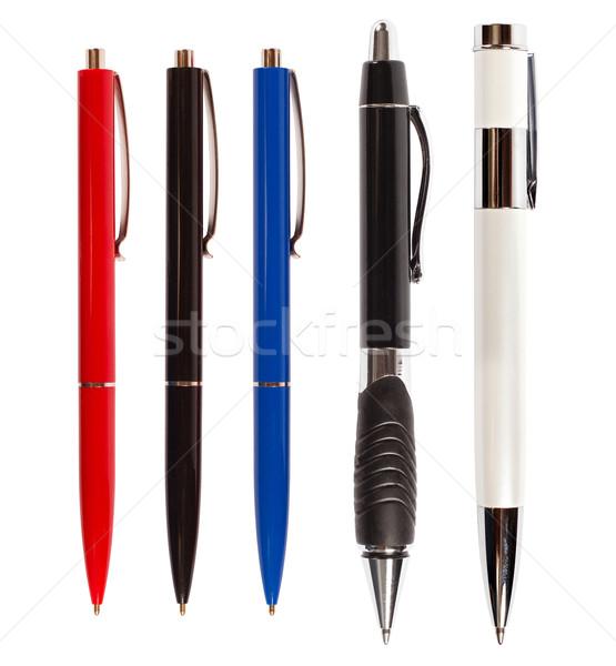 ペン ペン 孤立した 白 異なる 色 ストックフォト © leedsn