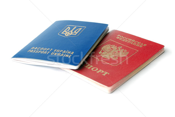 Ukrainian and Russian ID passports  Stock photo © leedsn