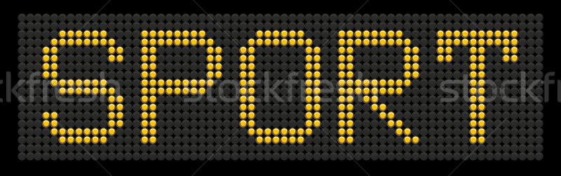 żółty przycisk pokładzie słowo sportu odizolowany Zdjęcia stock © leedsn