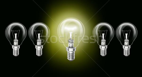 żarówki pomysł odizolowany inny środowisk Zdjęcia stock © leedsn