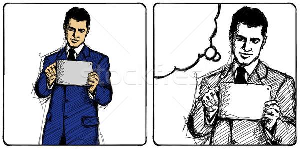 Stock photo: Vector Sketch Businessman