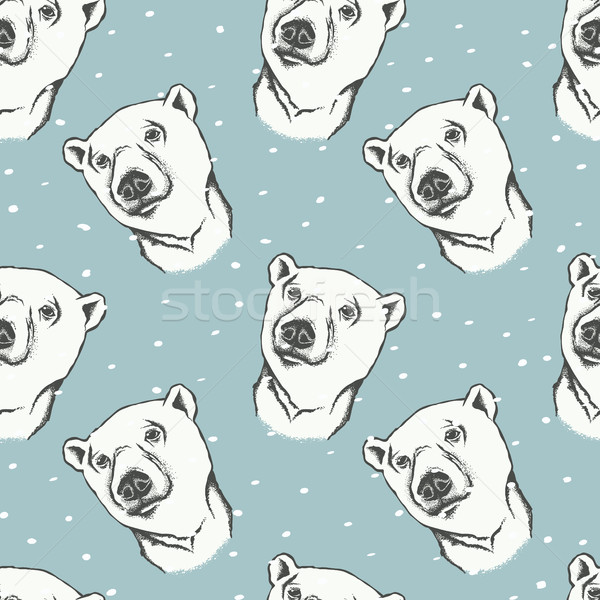 Polar bear vector illustration Stock photo © leedsn
