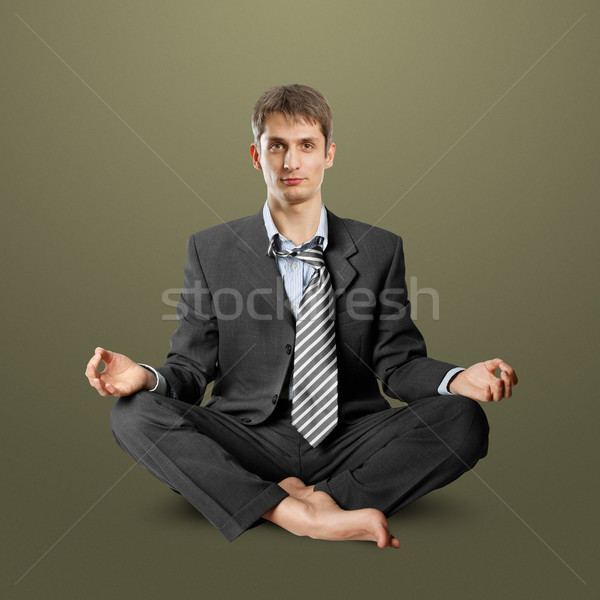 businessman in lotus pose Stock photo © leedsn