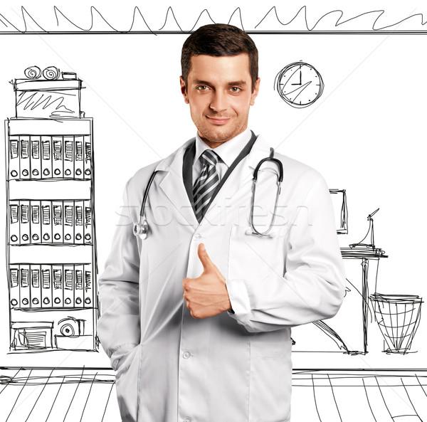 Doctor Man With Stethoscope Stock photo © leedsn