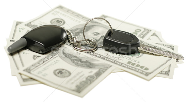 money and car keys Stock photo © leedsn
