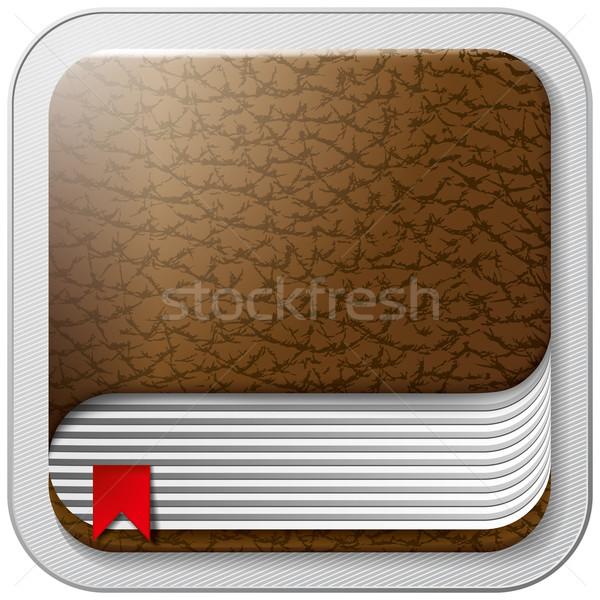 Icon Book Stock photo © leedsn