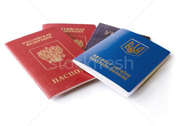 Ukrainian and Russian ID passports  Stock photo © leedsn