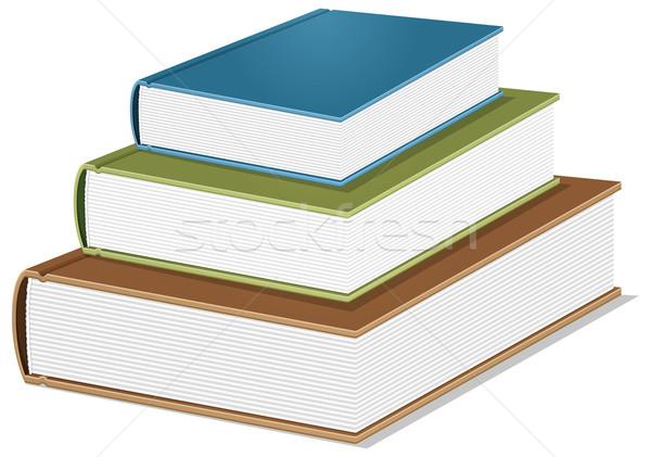Könyv vektor app ikon háló applikációk Stock fotó © leedsn