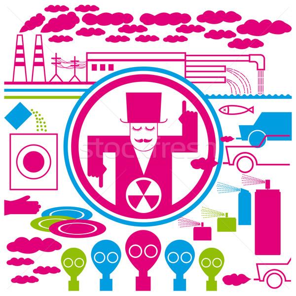 concept pollution Stock photo © leedsn