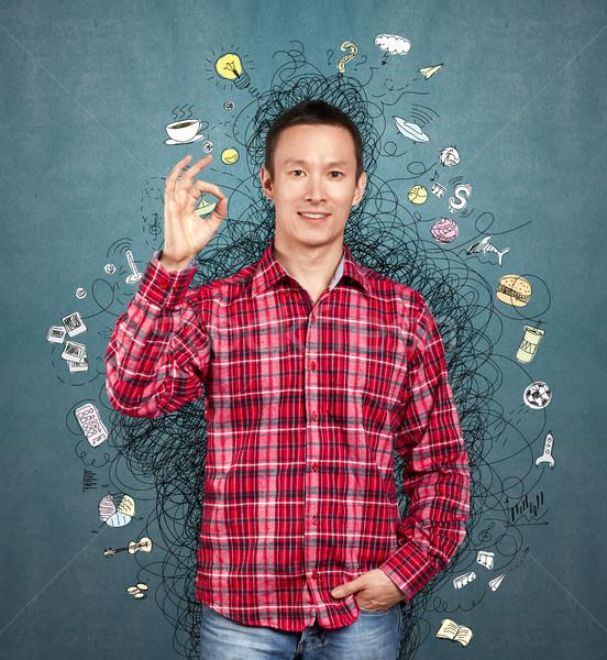 Man Got An Idea Stock photo © leedsn
