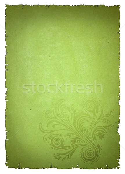 green old paper Stock photo © leedsn
